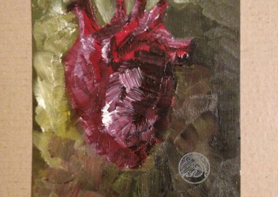 Cœur - Peinture à l'huile sur carton
